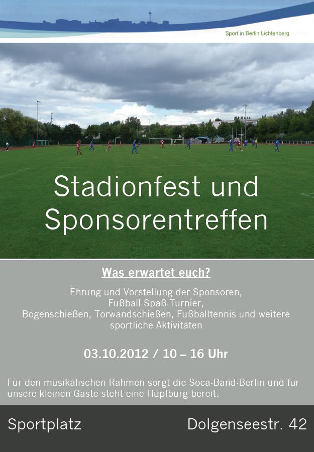 Fussball Lichtenberg Fest Bau Union am 3 Oktober 2012